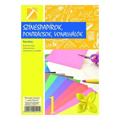 Színes papír és pontrács , I.osztály, T-Creativ termék