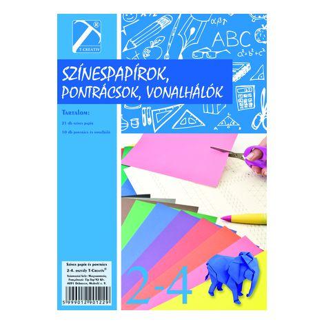 Színes papír és pontrács , Ii-iv.osztály, T-Creativ termék