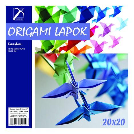 Origami lapok , 20x20 cm, T-Creativ termék