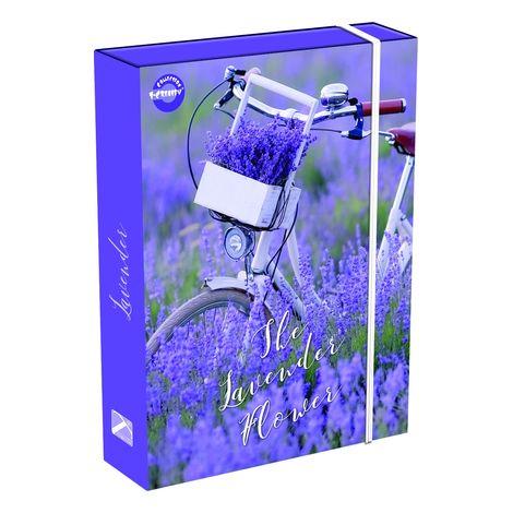 Füzetbox T-Creativ A/4, Organic Pattern (bordó és rózsaszín virágok)