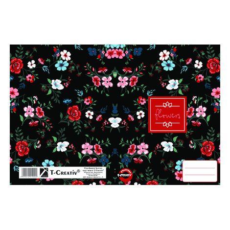 Füzetborító betétes T-Creativ A/4, Organic Pattern (rózsaszín virágok)