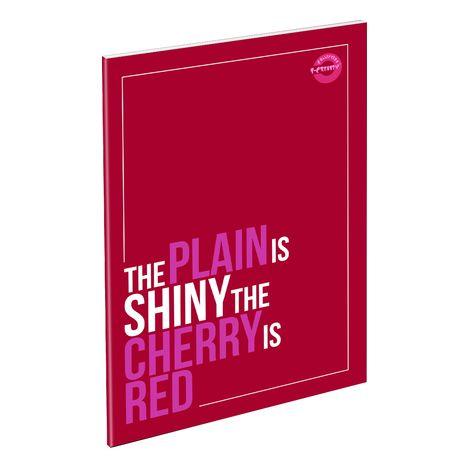 Füzet T-Creativ A/5 extra Plain, 87-32, négyzetrácsos, Rosary Red